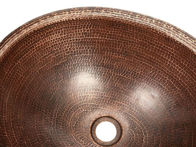 "Picture of 18"" Oval Prescenio Copper Vessel Sink by SoLuna"