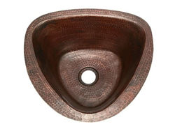 "Picture of 15"" Triangular Copper Bar Sink by SoLuna"