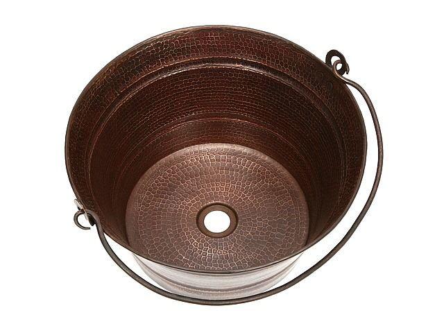 "Picture of 16"" Bucket Copper Vessel Sink by SoLuna"