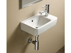 Bissonnet Comprimo 40/50 Italian Ceramic Sink with Right-Side Faucet