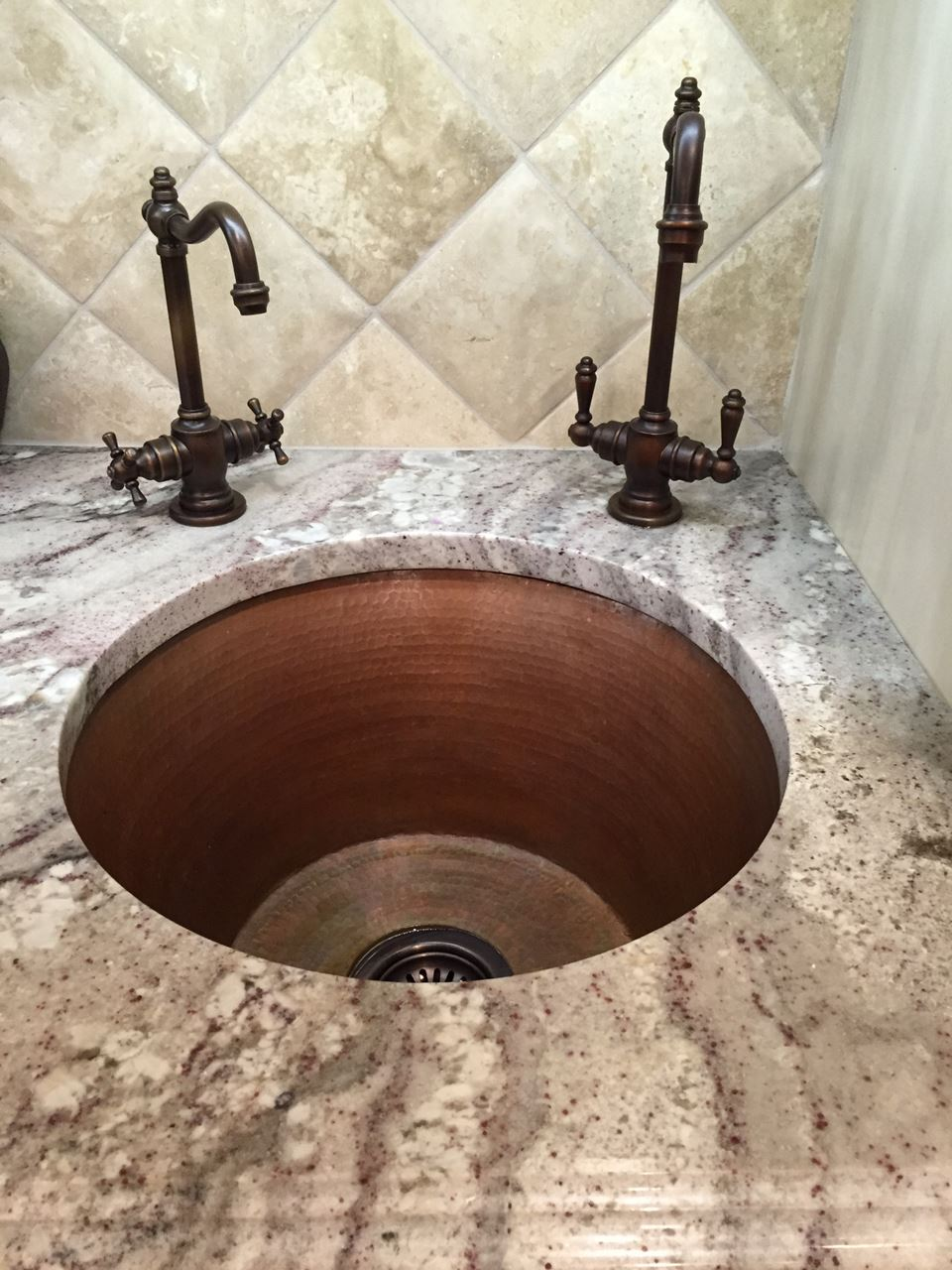 "Picture of 16"" Round Copper Bar Sink by SoLuna"