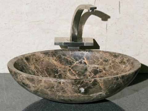 "18"" Oval Stone Vessel Sink"