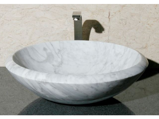 "Picture of 17"" Round Stone Vessel Sink"