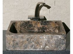 Rectangular Stone Bath Sink with Rough Exterior