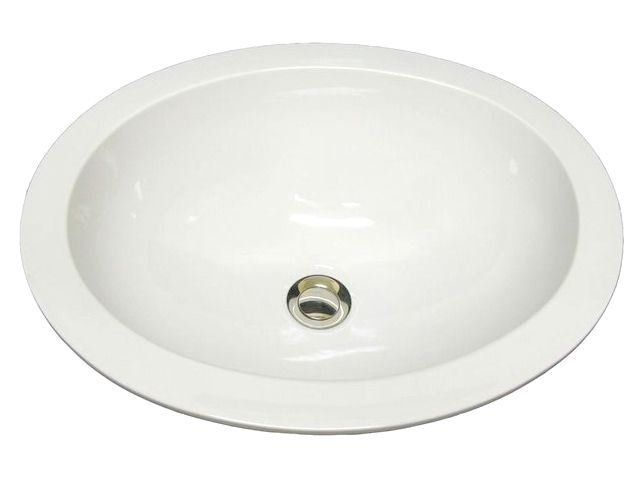 Picture of Marzi Self-Rimming Oval Sink with Flat Rim