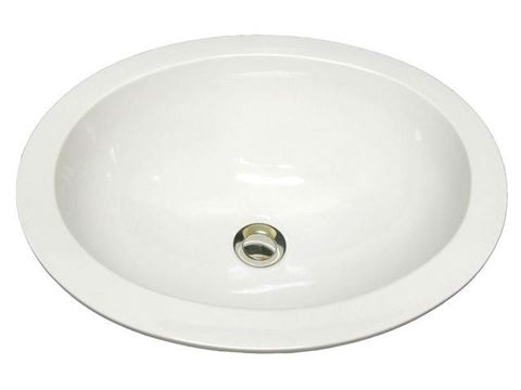 Marzi Self-Rimming Oval Sink with Flat Rim