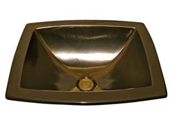 Picture of Marzi Drop-in Sink with Hand-Painted Bronze Glaze Finish