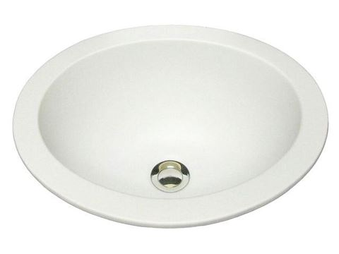 "Marzi 17"" Self-Rimming Oval Ceramic Sink with Flat Rim"