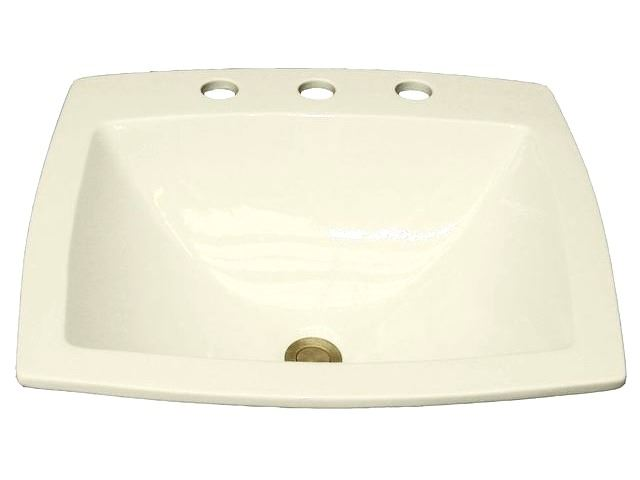 Picture of Marzi Rectangular Rounded Bottom Sink with Faucet Holes
