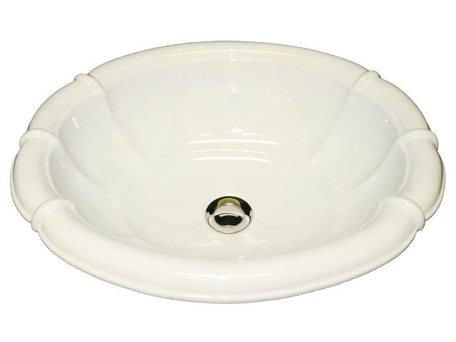 Picture of Marzi Ceramic Fluted Oval Bath Sink