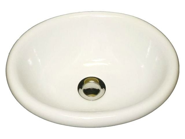 Picture of Marzi Small Oval Ceramic Bath Sink with Rounded Rim