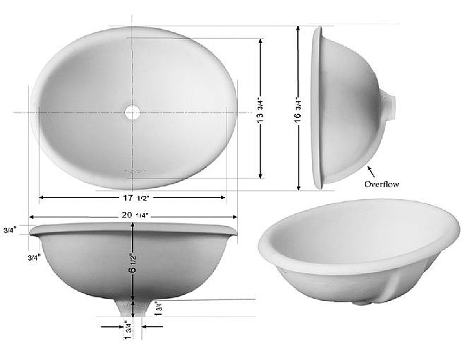 Picture of Hand Painted Sink - Ceresa