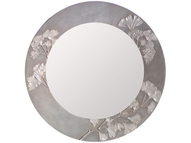 Picture of Ginkgo Branch Round Mirror