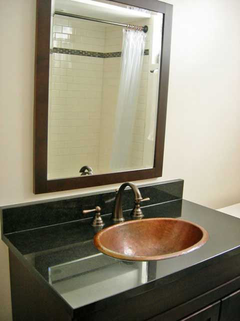 """Picture of 17"""" Oval Copper Bathroom Sink by SoLuna"""