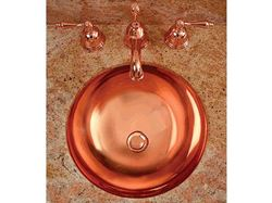 "Deschutes 17"" Round Metal Bathroom Sink"