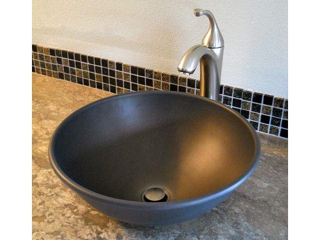 "Picture of Nehalem 16"" Round Metal Vessel Sink"