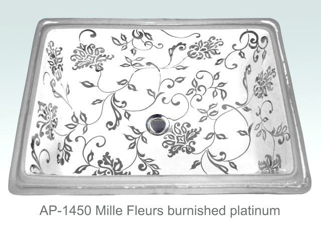 Picture of Hand Painted Sink - Mille Fleurs