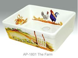 The Farm Design on Single Well Fireclay Kitchen Sink