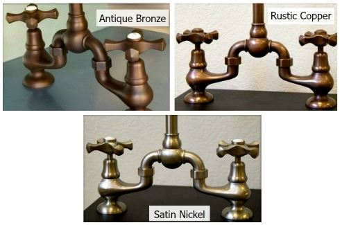 Picture of Sonoma Forge | Kitchen Faucet | Brownstone with Large Swivel Spout | Deck Mount