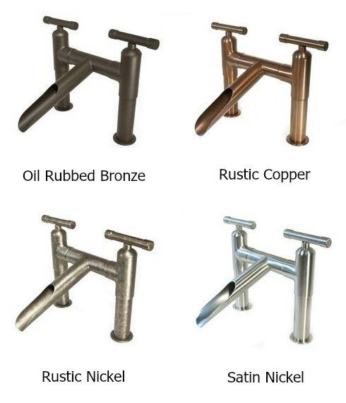 Picture of Sonoma Forge | Bathroom Faucet | Cap Spout | Deck Mount | Hands Free