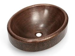 Picture of Oval Prescenio Copper Baptismal Font
