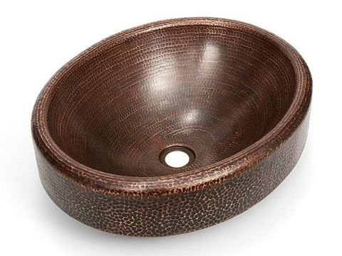 Oval Prescenio Copper Baptismal Font
