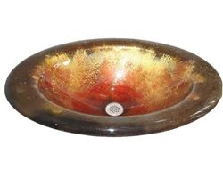 Picture of Paradiso Round Self-Rimming Glass Sink
