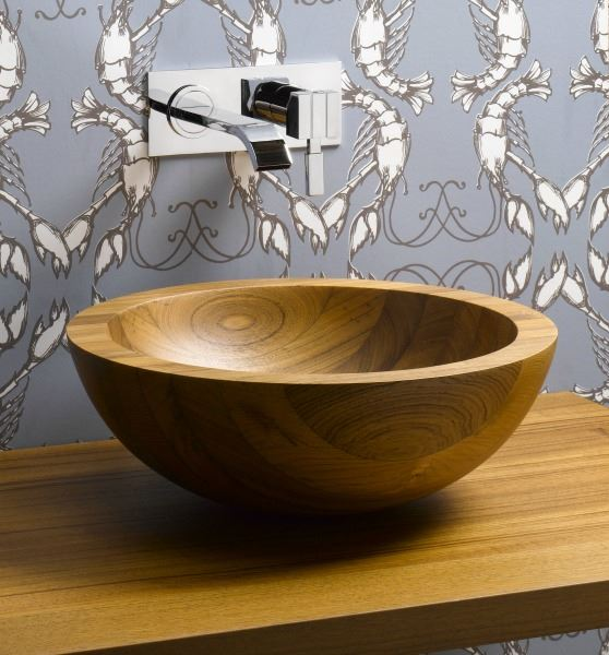 Picture of Helio Basin Teak Wood Vessel Sink
