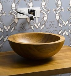 Helio Basin Teak Wood Vessel Sink