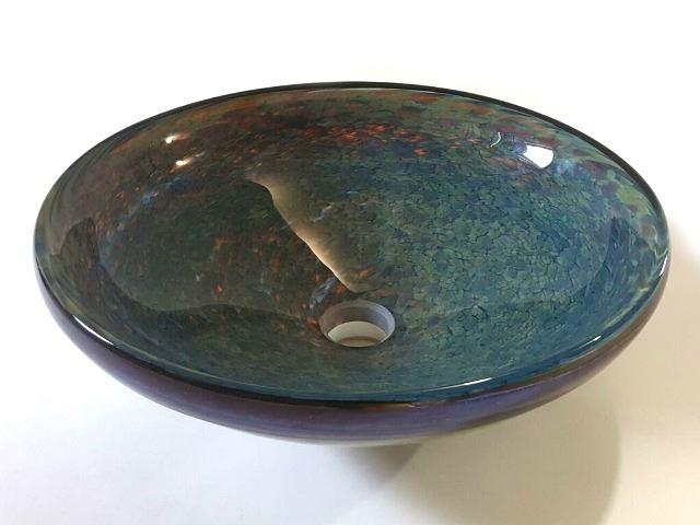 Picture of Golden Transparent Jade Tortoise Vessel Sink