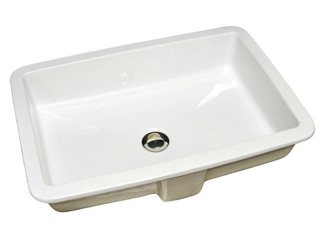 "Picture of Marzi 23"" Rectangular Ceramic Sink with Flat Bottom"