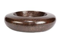 "Picture of 18"" Platillo Copper Vessel Sink by SoLuna"