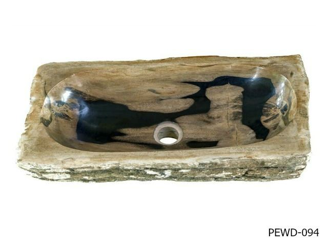 "Picture of Medium Rectangular Petrified Wood Sink 20""-21"""