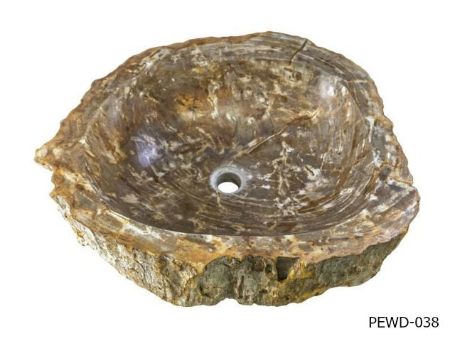 "Picture of Medium Rounded Petrified Wood Sink 18""-22"""