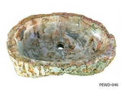 "Large Oval Petrified Wood Sink 22""-27"""
