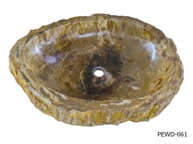 "Picture of Large Oval Petrified Wood Sink 22""-27"""