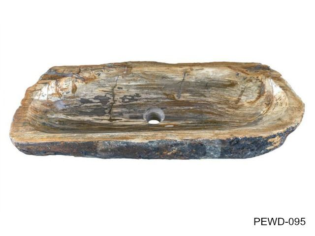 "Picture of X-Large Rectangular Petrified Wood Sink 26""-33"""