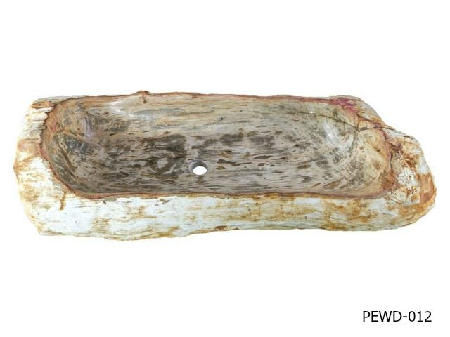 "Picture of Jumbo Petrified Wood Sink 38""-44"""