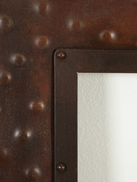 Picture of Small Rectangular Hammered Metal Mirror