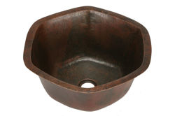 "Picture of 16"" Hexagon Copper Bar Sink by SoLuna"