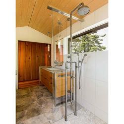 Sonoma Forge | Outdoor Shower | Waterbridge 1080 with Foot Wash & Handshower