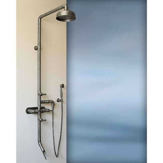 Picture of Sonoma Forge | Outdoor Shower | Waterbridge 880 with Tub Filler & Handshower