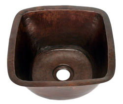 "15"" Copper Bar Sink w/Rounded Edge by SoLuna"