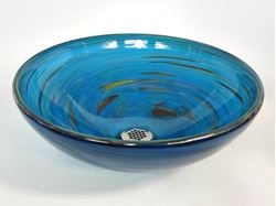Picture of Blown Glass Sink - Marine Vortex