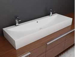 Solid Surface Double Countertop Sink