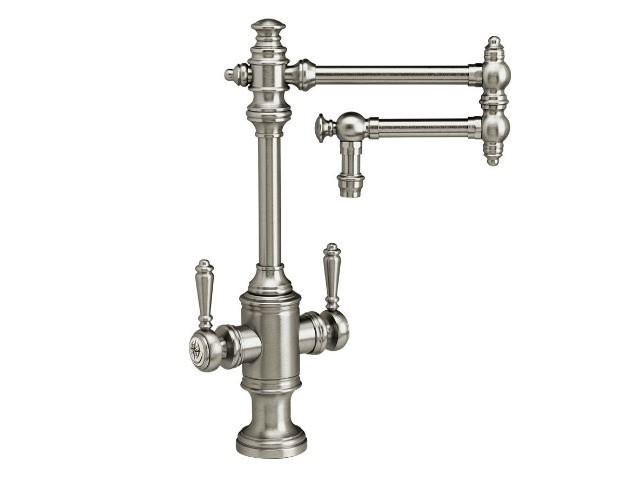 """Picture of Waterstone Towson Kitchen Faucet with Double Handles  - 12"""" Articulated Spout"""