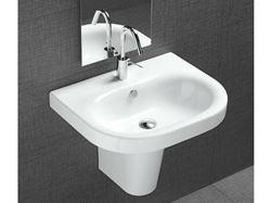 Bissonnet Pro Daytime 55 Semi-Pedestal Ceramic Sink