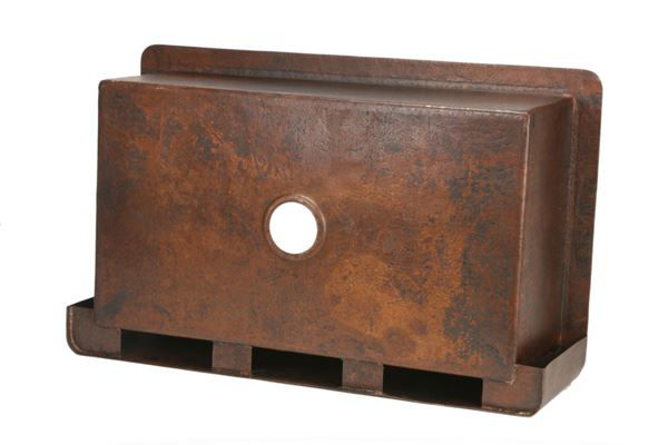 """Picture of 36"""" Single Well Copper Farmhouse Sink by SoLuna"""
