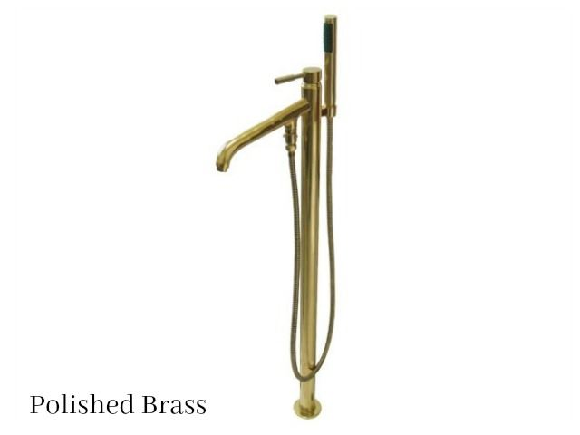 Picture of Kingston Brass Concord Floor Mount Single Post Tub Filler Faucet with Hand Shower