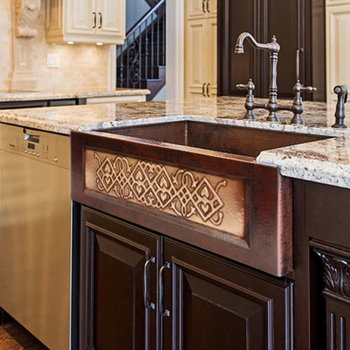 Picture of Copper Farmhouse Sink - Anatolia by SoLuna